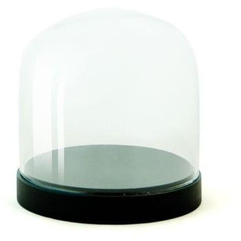 Recipient din sticla Wireworks Pleasure Dome Black, Ø 13 cm