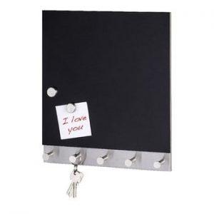 Cuier magnetic pentru haine cu tabla de scris Wenko Black Big, 30 x 34 cm