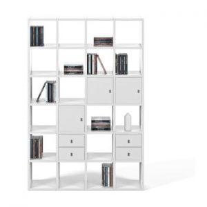 Biblioteca TemaHome Pombal, latime 151 cm, alb