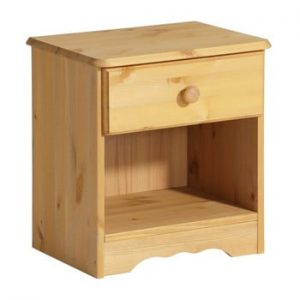 Noptiera din lemn masiv de pin Støraa Amanda