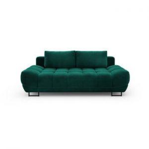 Canapea extensibila cu invelis de catifea cu 3 locuri Windsor & Co Sofas Cirrus, verde