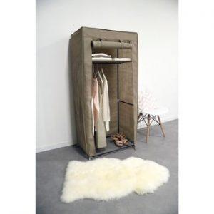 Dulap textil Compactor Wardrobe, inaltime 147 cm, bej