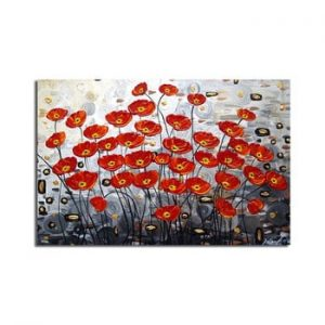 Tablou pe panza Poppy Field, 70 x 45 cm