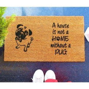 Pres Doormat Pug, 70 x 40 cm