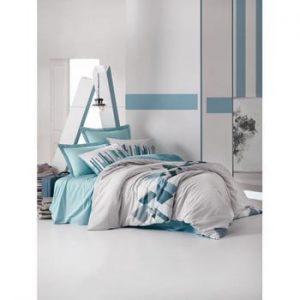 Set lenjerie de pat din bumbac pentru pat de o persoana Ranforce Katie, 160 x 220 cm