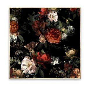 Tablou imprimat pe panza Styler Orange Flowers, 67 x 87 cm