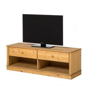 Comoda TV din lemn de pin Støraa Annabelle, maro