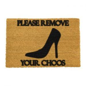 Covoras intrare din fibre de cocos Artsy Doormats Remove Shoes, 40 x 60 cm