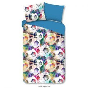 Lenjerie de pat din bumbac pentru copii Good Morning Robin Multi, 140 x 200 cm