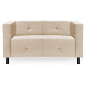 Canapea cu 2 locuri Vivonita Milo, gri deschis