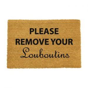 Covoras intrare din fibre de cocos Artsy Doormats Your Louboutins, 40 x 60 cm