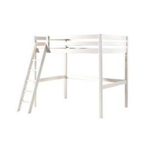 Pat pentru copii cu scara Vipack Pino, 140x200cm, alb