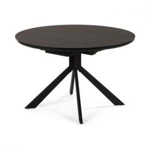 Masa La Forma Haydee, ø 120 cm, negru
