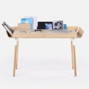 Birou cu 2 sertare EMKO My Writing, aspect lemn natural