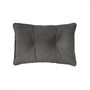 Perna Tiseco Home Studio Velvet Button, 40 x 60 cm, gri inchis