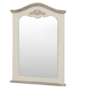 Oglinda din lemn de plop Livin Hill Rimini, crem, inaltime 85 cm