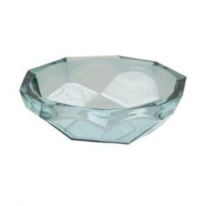 Bol din sticla reciclata Mauro Ferretti Stone, ø25cm, albastru