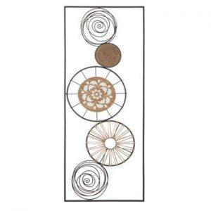 Decoratiune metalica pentru perete Mauro Ferretti Masai B, 35x90cm