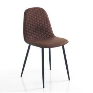 Set 4 scaune Tomasucci Gale, maro