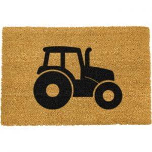 Covoras intrare din fibre de cocos Artsy Doormats Tractor, 40 x 60 cm