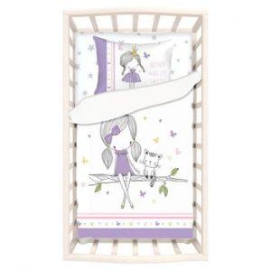 Lenjerie de pat din bumbac pentru copii Apolena Mirra Celso, 100 x 150 cm
