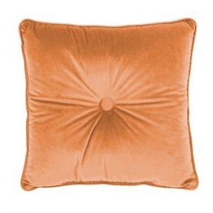 Perna Tiseco Home Studio Velvet Button, 45x45cm, portocaliu