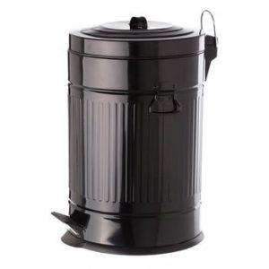 Cos metalic de gunoi Unimasa, 20 l, negru