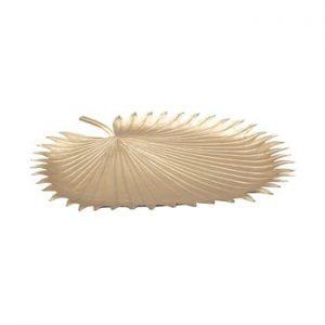 Bol decorativ Mauro Ferretti Leaf, 48x50cm, auriu