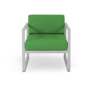Fotoliu adecvat pentru exterior Calme Jardin Nicea, gri - verde