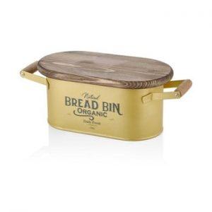 Cutie pentru paine The Mia Bread, lungime 41 cm, auriu