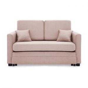 Canapea extensibila, 2 locuri, Vivonita Brent, roz deschis