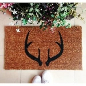Pres Doormat Deer Horns, 70 x 40 cm