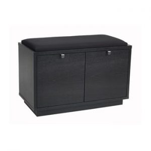 Banca cu spatiu pentru depozitare si sezut negru Rowico Confetti, latime 70cm, negru