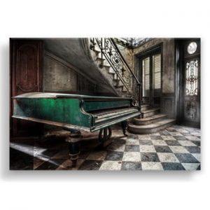 Tablou Styler Canvas Silver Uno Piano, 85 x 113 cm