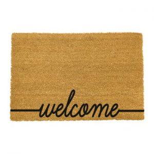 Covoras intrare din fibre de cocos Artsy Doormats Welcome Scribbled, 40 x 60 cm