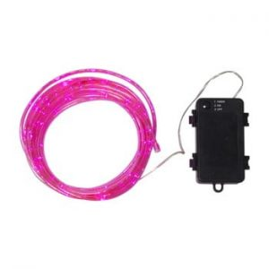 Sirag luminos LED pentru exterior Best Season Tuby, 50 becuri, roz