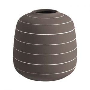 Vaza din ceramica PT LIVING Terra, ⌀ 16,5 cm, maro inchis