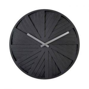 Ceas de perete Karlsson Slides, ø 40 cm, negru