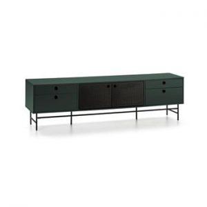 Comoda TV Teulat Punto, negru-verde