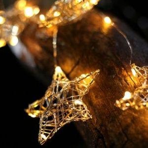 Sirag luminos cu LED in forma de stele DecoKing Star, lungime 75 cm