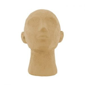 Statueta decorativa PT LIVING Face Art, inaltime 22,8 cm, maro nisip