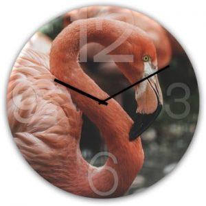 Ceas de perete Styler Glassclock Flamingo, ⌀ 30 cm