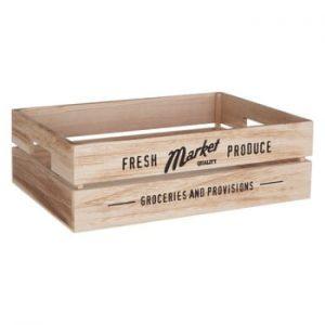 Cutie din lemn pentru verdeturi Premier Housewares Farmers Market, 28 x 38 cm