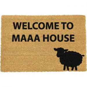 Covoras intrare din fibre de cocos Artsy Doormats Welcome to Maaa House, 40 x 60 cm