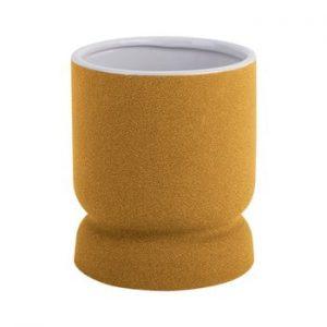 Vaza din ceramica PT LIVING Cast, inaltime 17cm, galben