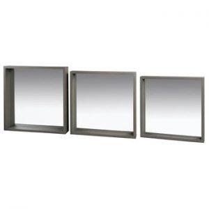 Set de 3 oglinzi din lemn de paulownia Santiago Pons Combo