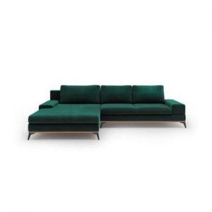 Coltar cu sezlong pe partea stanga Windsor & Co Sofas Astre, verde