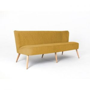 Canapea cu 3 locuri Custom Form Harry, galben mustar
