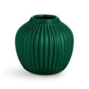 Vaza din ceramica Kähler Design Hammershoi,inaltime 12,5 cm, verde