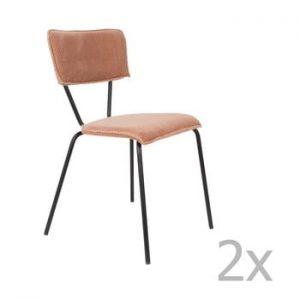 Set 2 scaune Dutchbone Melonie, roz